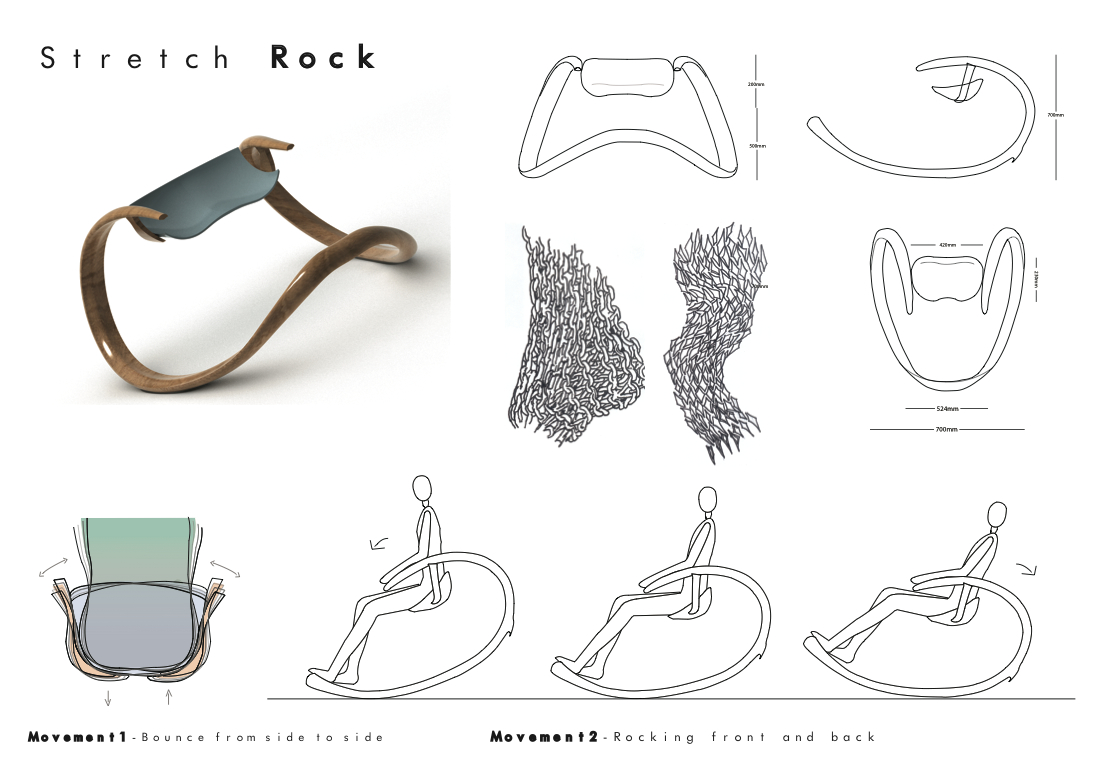 Roche bobois stretch rock chair hyun kyung lee - Converteerbare rock bobois ...