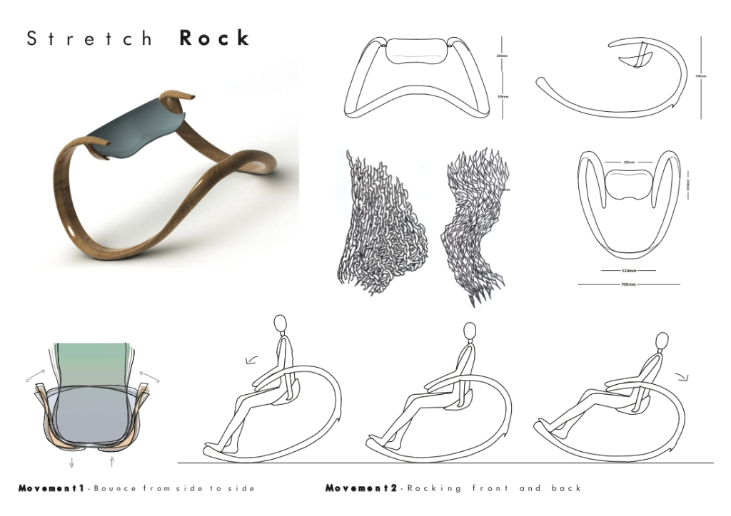 Roche Bobois - Stretch Rock Chair